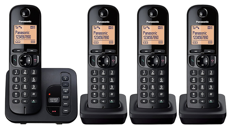 Set of 4 Cordless Home Phones