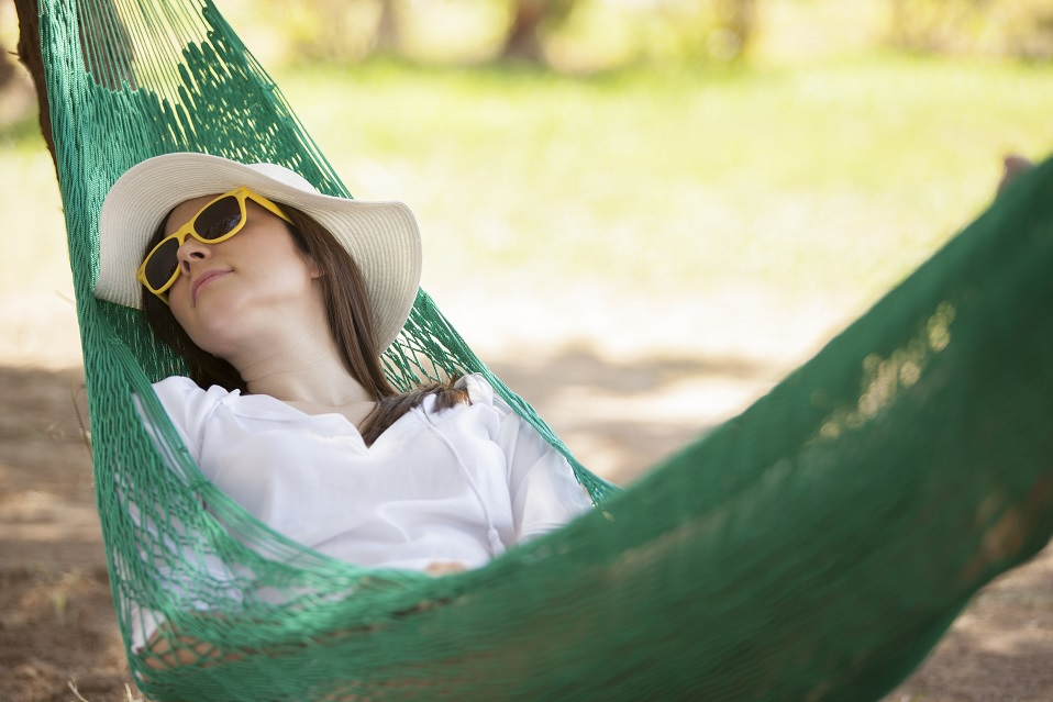 Sleeping in a Garden Hammock