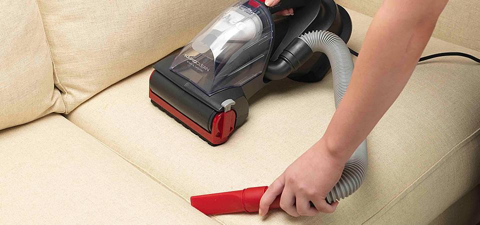 Hand vacuum your bedroom