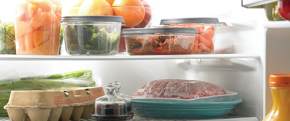 Sealed Food in the Fridge For Good Kitchen Hygiene
