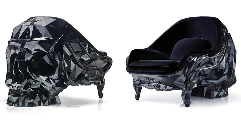 BLACK Skull Armchair
