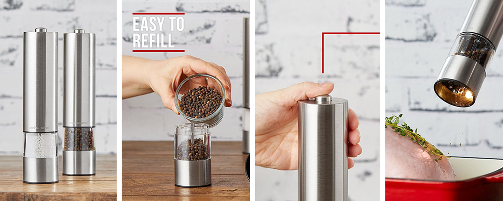 Andrew James Stainless Steel Electronic Salt and Pepper Grinder Set Review