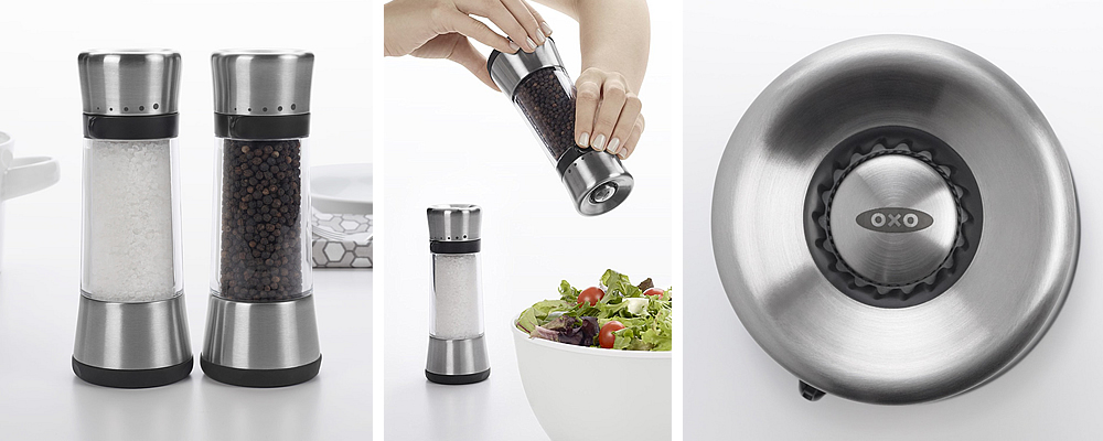 OXO Good Grips Stainless Steel Lua Salt and Pepper Grinders Review