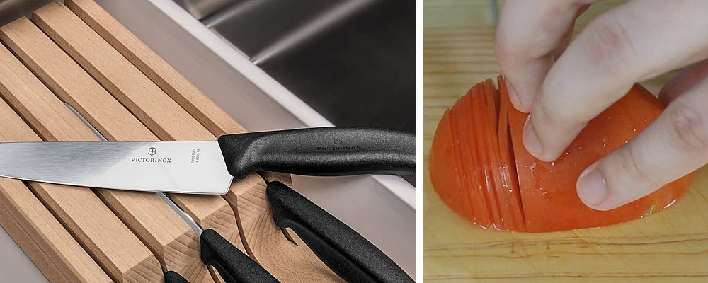Victorinox Knives and Tomatoes