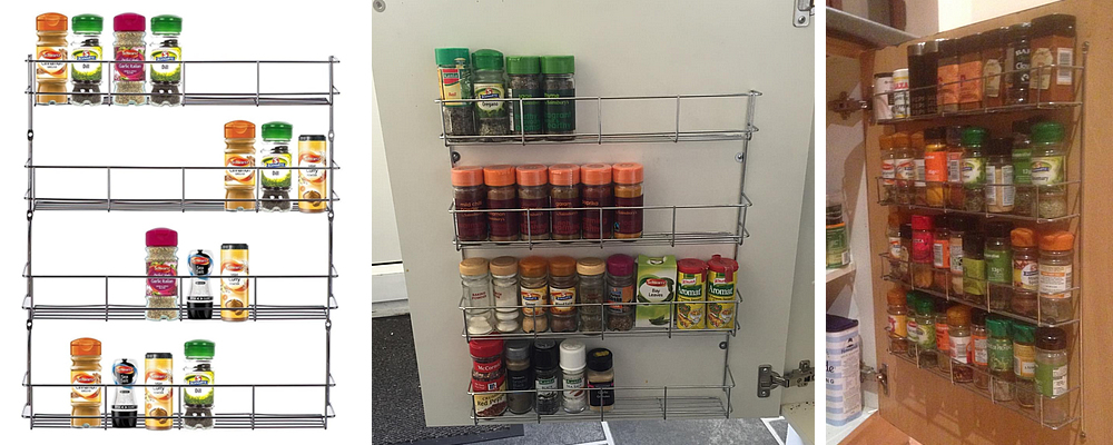 Hafele 4-Tier Chrome Wall Mountable Spice Rack Review