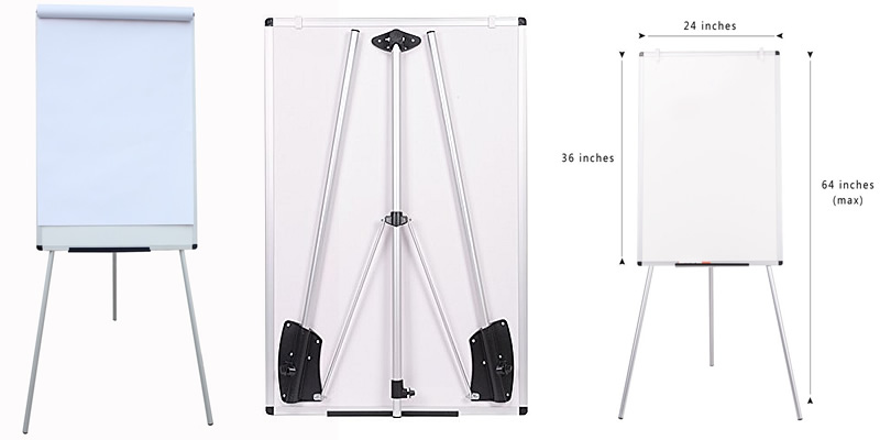 VIZ-PRO Flipchart Easel with Magnetic Whiteboard Review