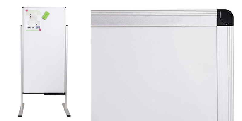 VIZ-PRO Double-Sided Magnetic Mobile Whiteboard | 1200 x 600mm