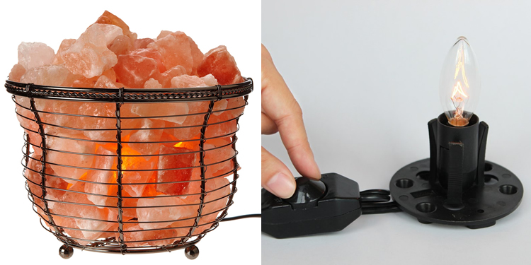 WBM Metal Basket Himalayan Rock Salt Lamp