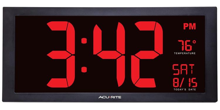 AcuRite 75100C Digital Wall Clock