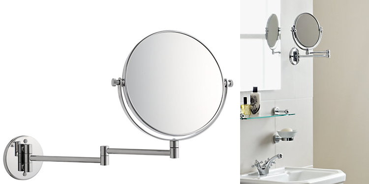 John Lewis Chrome Extending Magnifying Mirror