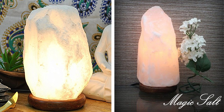 Magic Salt Rare Natural White Himalayan Rock Salt Lamp