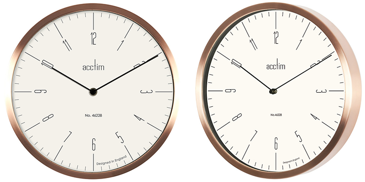 Acctim Evo Copper Wall Clock