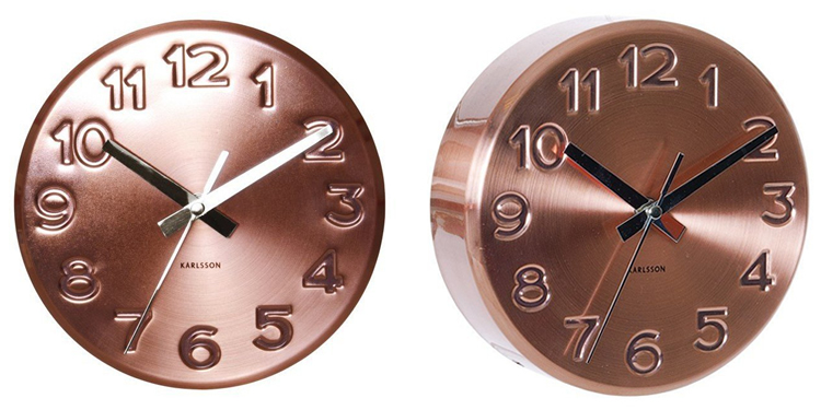 Karlsson KA5477CO Copper Wall Clock
