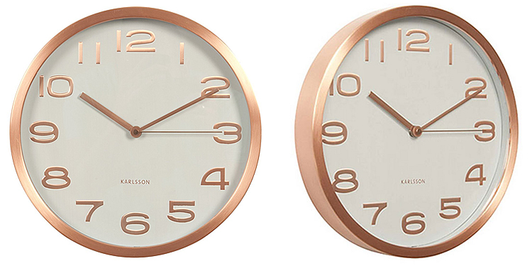 Karlsson KA5578WH Copper Wall Clock
