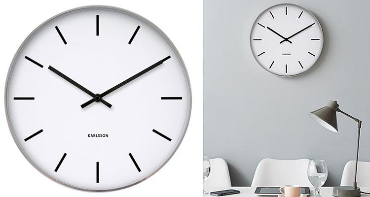 Karlsson Station Classic Retro Wall Clock