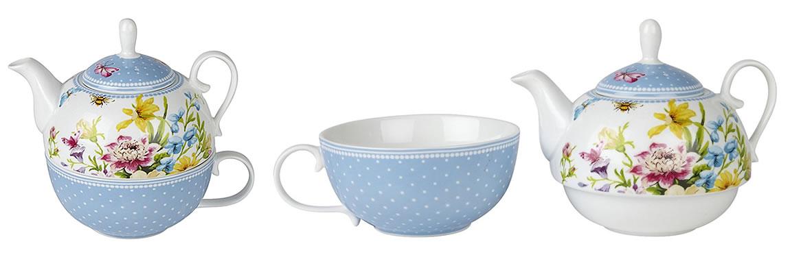 Katie Alice English Garden Tea For One Set