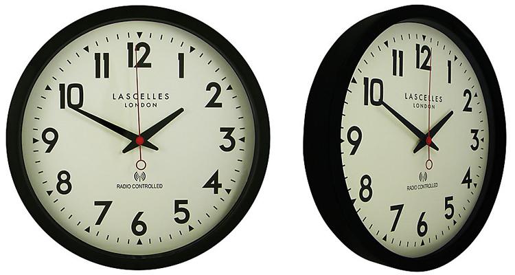 Lascelles Radio Controlled Retro Wall Clock