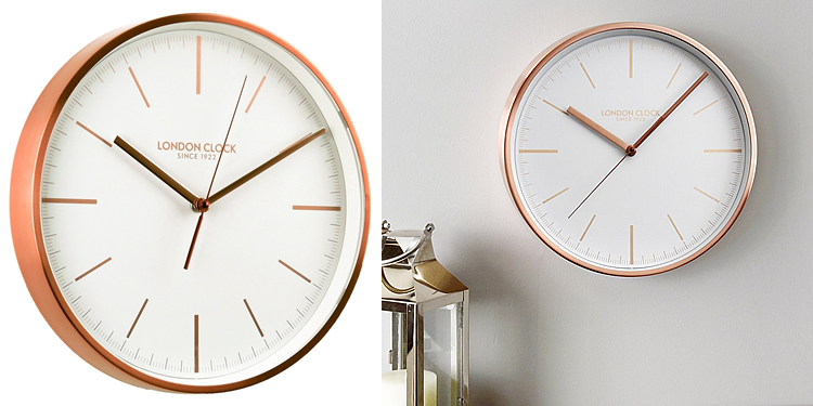 London Clock Company Brushed Copper | LO-01102