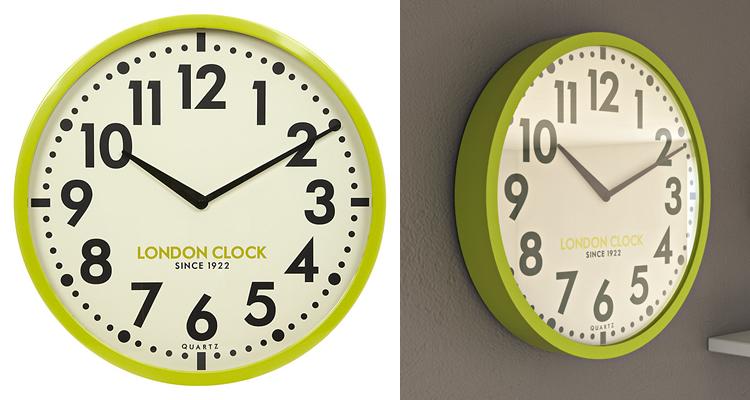 London Clock Company Retro Lime Wall Clock