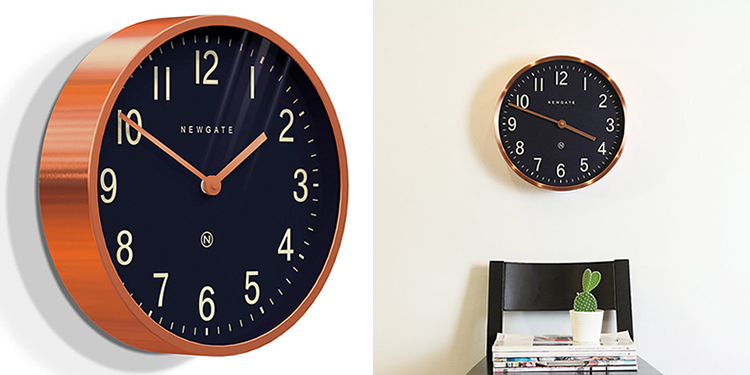 Newgate Master Edwards Copper Wall Clock