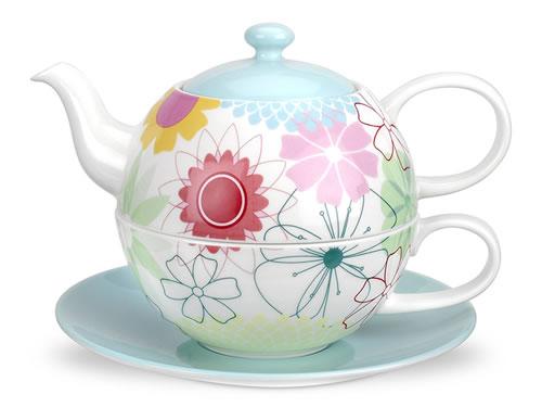 Portmeirion Crazy Daisy Tea For One Set