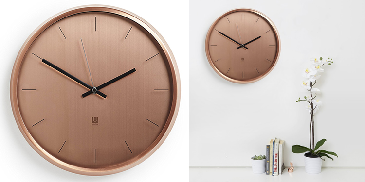 Umbra Meta Clock Copper | 1004385-880