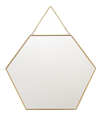 Hexagonal Hanging Mirror by Laura Ashley
