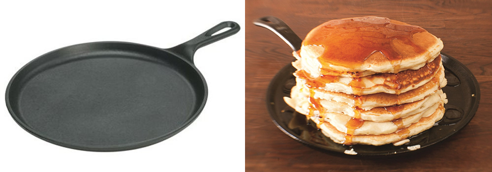 Lodge Pre-Seasoned Cast Iron Pancake Pan