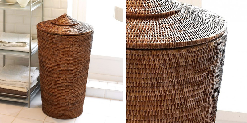 Orchid Rattan Wicker Laundry Hamper