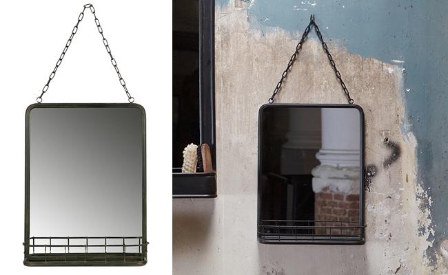 Speak Industrial Style Hanging Mirror