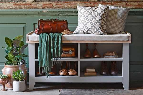 Chester Shoe Storage Bench And Cushion