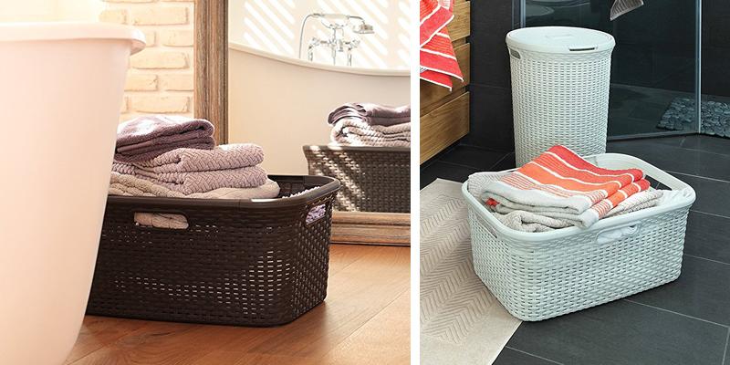 Curver 45L Rectangle Plastic Laundry Basket
