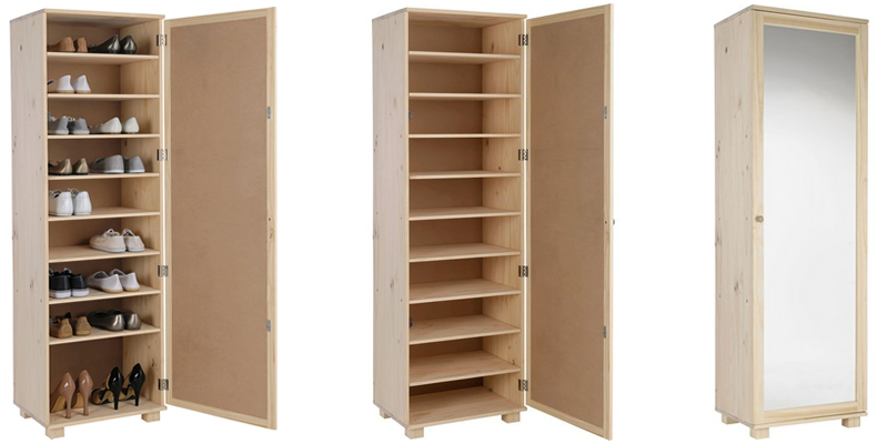 Mirrored Shoe Storage Cabinet by HOME