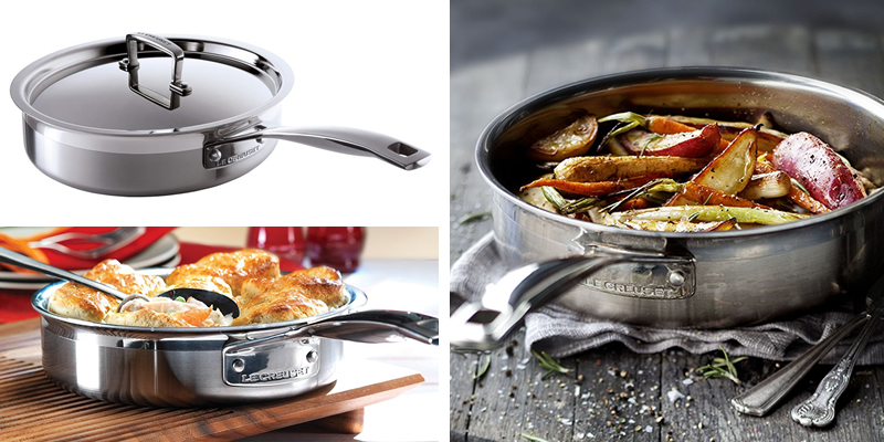 Le Creuset 3-Ply Stainless Steel Saute Pan | SSC510024