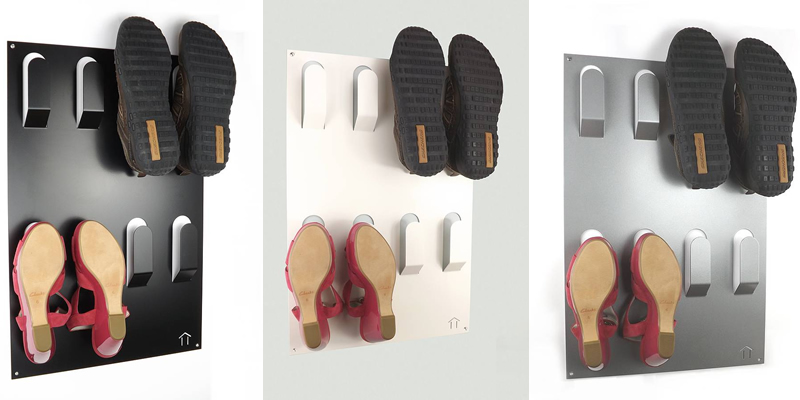 Unique Wall Mounted Shoe Rack by The Metal House