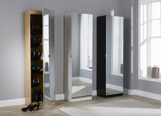 Mirrored Shoe Cabinet by The Range
