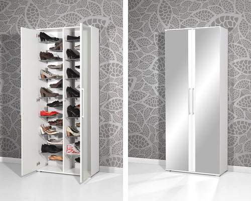 Spin 30 Pair Shoe Storage Cabinet by Urban Designs