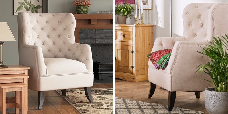 Athena Wingback Chair by Andover Mills