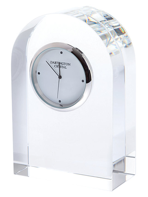 Dartington Crystal Small Curve Clock
