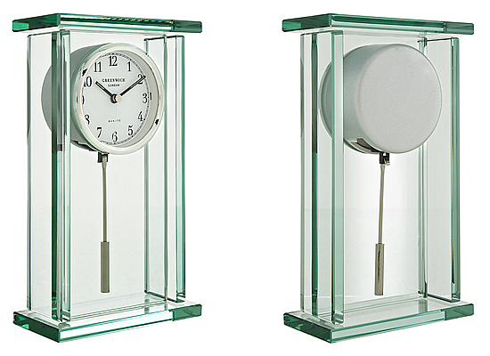 John Lewis Theia Pendulum Glass Mantel Clock