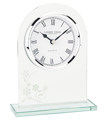 Arch Top Glass Mantel Clock by London Clock
