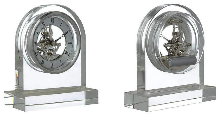 Crystal Dome Skeleton Clock by London Clock