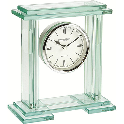 Modern Glass Quartz Mantel Clock