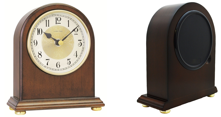 Solid Wood Mantel Clock by London Clock