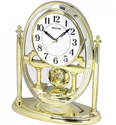 RHYTHM Gold Mantel Clock