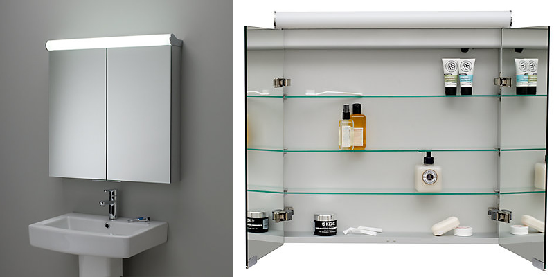 Roper Rhodes Illuminated Double Bathroom Mirror Cabinet