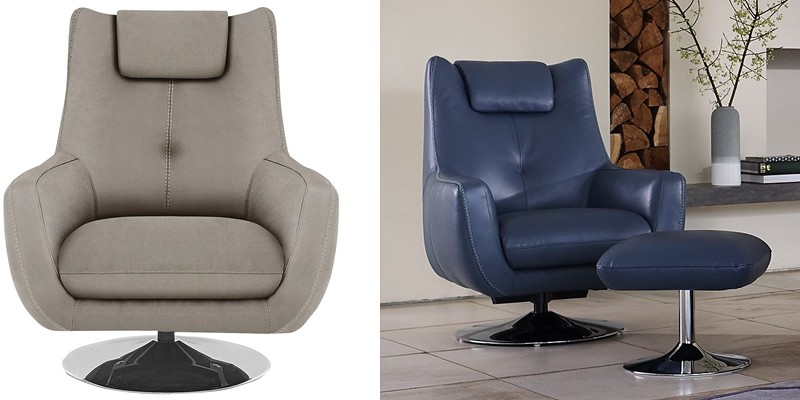 Sanza Fabric Swivel Armchair