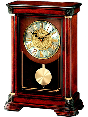 Seiko Wooden Pendulum Mantel Clock | QXQ008B