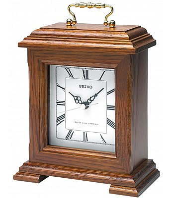 Seiko Radio Controlled Wooden Mantel Clock | QXR130B