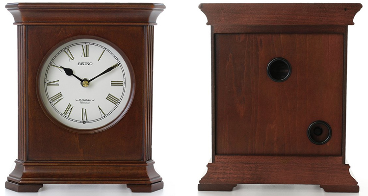 Seiko Wooden Square Melody Mantel Clock